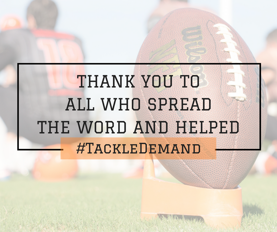 #TackleDemand